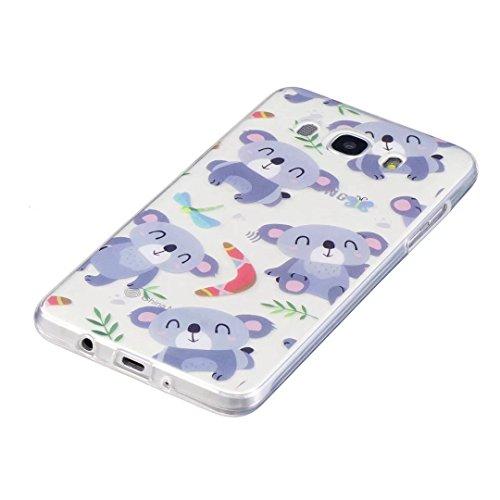 Coque iPhone 6/6S silicone Souple Housse transparent ultra fin TPU motif Peinture Coque DECHYI pour iPhone 6/6S.carrousel. koala