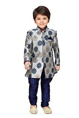 AJ Dezines Kids Festive and Party Wear Sherwani for Baby Boys(1007_GREY_0)