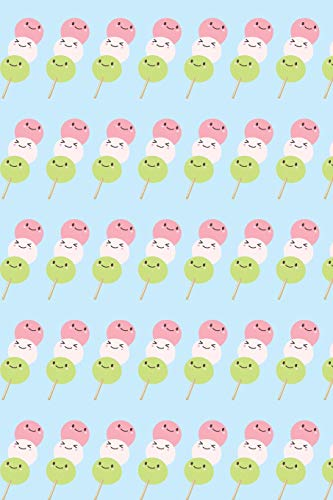 Dango Notebook: Cute Wagashi Notebook (Composition Book Journal, 110 Pages Lined Notebook, 6
