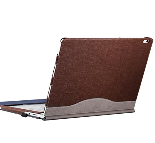 - Grain-leder-laptop Portfolio (Laptop Shell Hülle Schutzhülle für Microsoft Surface Book Performance Base 13,5