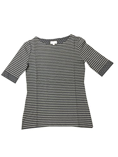 ARMEDANGELS Damen Longsleeve aus Bio-Baumwoll Mix - Kalle Stripes - GOTS, MADE WITH ORGANIC, CERES-008 navy-off white