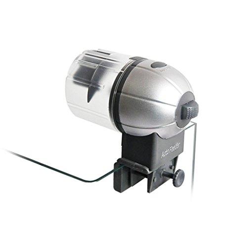 Cacoffay Automatisch Fisch Zubringer Batteriebetrieben Aquarium Zeitliche Koordinierung Elektronisch Zubringer Programmierbar Essen Spender Für Fisch