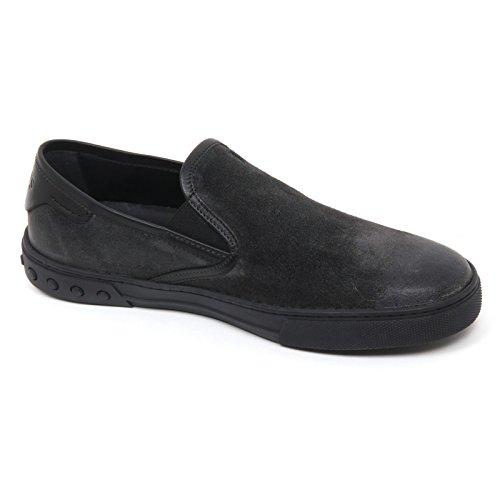 B9752 sneaker uomo TOD'S CASSETTA scarpa grigio scuro/nero slip on shoe man Grigio scuro/Nero