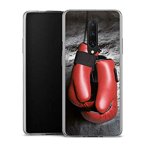 DeinDesign Slim Case kompatibel mit OnePlus 7 Pro Silikon Hülle Ultra Dünn Schutzhülle Boxen Boxhandschuhe Sport