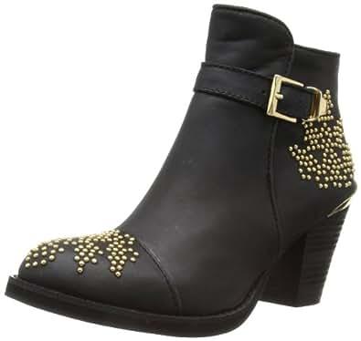Moda In Pelle Women's Coraline Cowboy Boots, Black, 5 UK