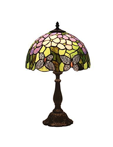 Floral Vintage Stehlampe (KCoob Schreibtischlampe große Wisteria und Schmetterling Muster Stehlampe Vintage für Wohnzimmer)