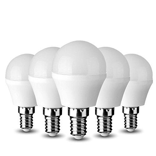 GreenSun 3W 10 * 2835SMD E14 LED Lampen 280lm Kühlesweiß Ersatz für 20W Glühlampen 6000K 160° Abstrahlwinkel LED Leuchtmittel LED Birne 5er Pack