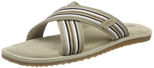 Geox u artie c c, sandali punta aperta uomo, beige (sand), 41 eu