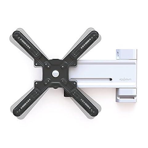 Exelium Slide 22XL Wandhalterung für Fernseher von 81cm (32 Zoll) bis 142cm (56 Zoll), Traglast: max. 28kg, Wandabstand 34/39-650mm, bis VESA 400x400,