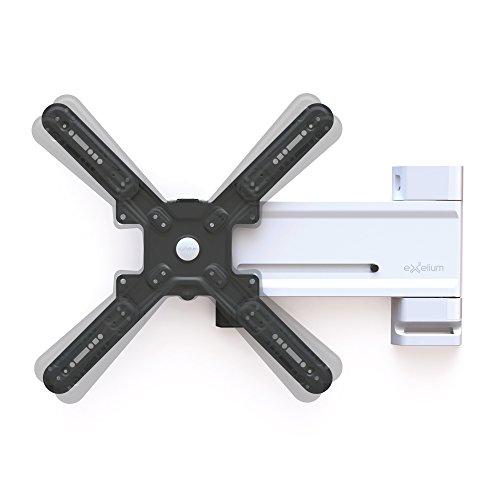 Exelium Slide 22XL Wandhalterung für Fernseher von 81cm (32 Zoll) bis 142cm (56 Zoll), Traglast: max. 28kg, Wandabstand 34/39-650mm, bis VESA 400x400, aluminium
