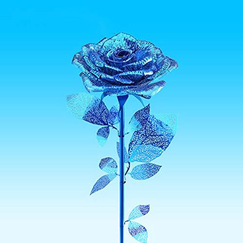 MQKZ FR Rose fertig Freundinnen Paar Freundinnen Frau Geständnis kreative romantische Schmuck blau 2 / pcs One Size senden