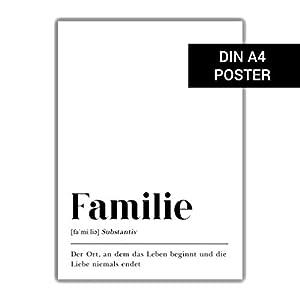 DIN A4 Poster Typografie, Geschenk für Eltern, Schrift Dekoration, Skandinavisch Wohnen, Dekoration Flur, Geschenk Geburt Einzug