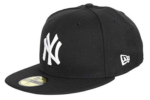 New Era Casquette MLB BASIC NEW YORK YANKEES black white, 7 3/8 (58.7cm)