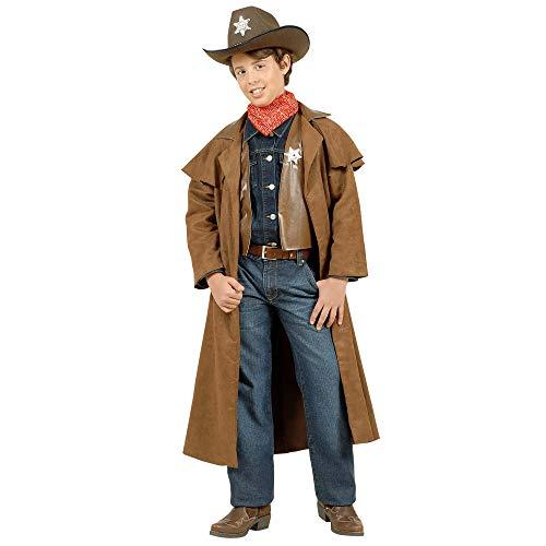 WIDMANN WDM57386 - Costume Per Bambini Cowboy Scamosciati (128 cm/5-7 Anni), Marrone, XXS