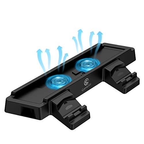 Gamesir supporto verticale per ps4 pro/slim, stazione di ricarica controller di playstation 4 con 2 ventole di raffreddamento e 2 porte usb