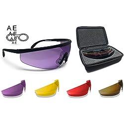 BERTONI Gafas de Tiro Protectoras Balistica Tacticas de Seguridad para Disparar con 4 lentes Incluidas y Clip para Lentes Graduadas by Italy – AF899