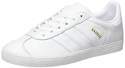 Adidas Gazelle, Baskets Basses Mixte Enfant, Blanc (Footwear White/Footwear White/Footwear White), 36 EU
