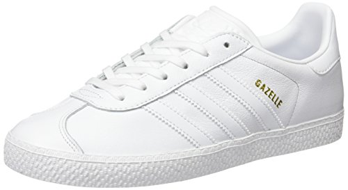 adidas Unisex Kids' Gazelle J Low-Top Sneakers, Off White (Ftwr White/Ftwr White/Ftwr...