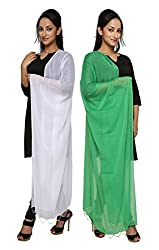 Dupatta Bazaar Womens Dupatta (Pack of 2)(CD0043_Multi-Coloured_Free Size)