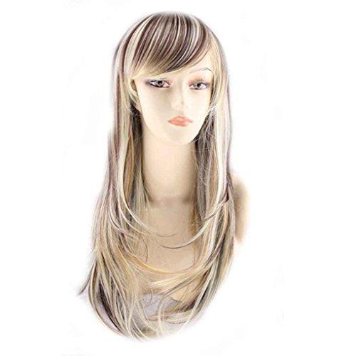 Babysbreath Mode Frauen dame Volle Lange Gerade Perücken Cosplay Party/Kostüm Haar Perücke 65 cm (Frauen Für Blonde Halloween-kostüm-ideen)