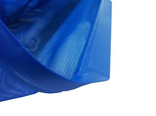 Steinbach Poolreinigung Bodenkescher mit verstärktem Kunststoffrahmen, für Teleskopstange, Blau, 515x235x410 mm