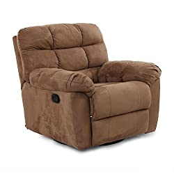 Buff Leather Single Recliner