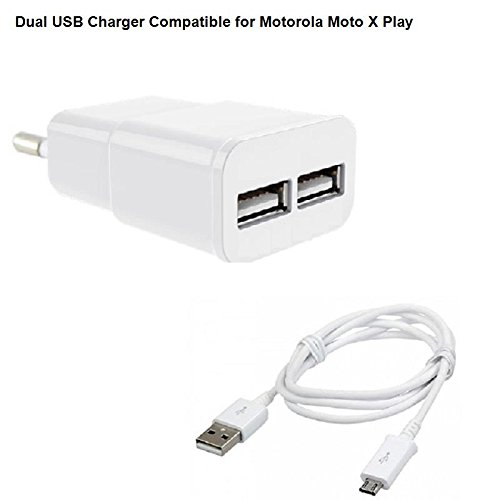 Cell Planet's Dual USB Charger Compatible for Motorola Moto X Play