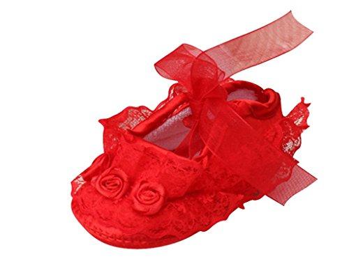 Babyschuhe Taufe Mädchen Lauflernschuhe 12 Sandalen Taufschuhe Krabbelschuhe Leder Schuhe 3 Rot Baby Manate p0wx0PZ