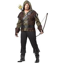 California Costumes 01695 - Disfraz De Robin Hood Arquero Para Los Hombres Talla Plus 4XL - 5XL EU