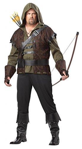 Robin Hood Plus Size Mens Medieval Archer Fairytale Book Week XL Adult Costume