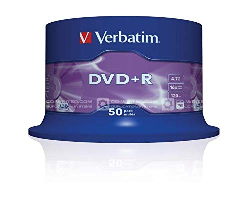 Verbatim 43550 4.7GB 16x DVD + R Matt Silber - 50 Pack Spindel
