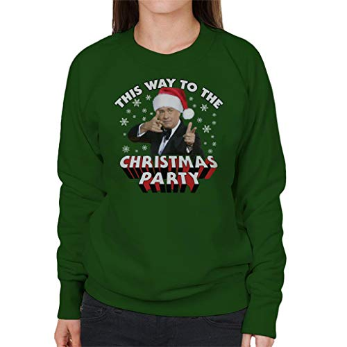 (Coto7 Tom Hanks This Way to The Christmas Party Women's Sweatshirt)