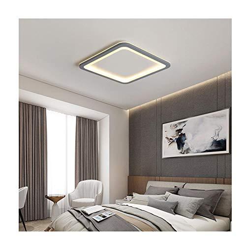 LED Deckenleuchte Grau Weiß Warmweiß Wohnzimmerleuchte Schlafzimmer Innenleuchte Deckenleuchte, quadratisch Weiß