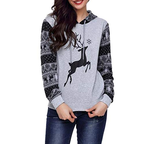 TWIFER Damen Herbst Winter Hoodies Weihnachts Kapuzenpullover Sweatershirt Bluse