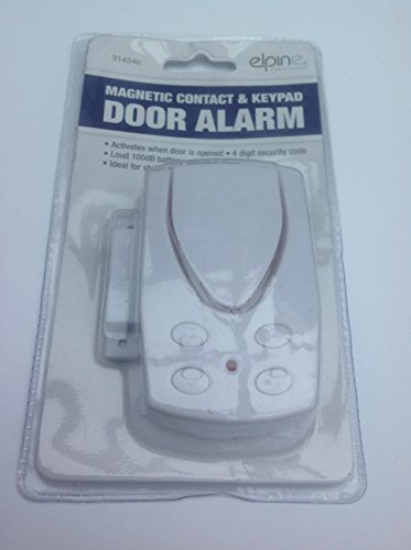 Wireless door or window entry alarm magnetic sensor with keypad