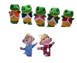 AKORD BA-7 - Marionetas de Dedo, Multicolor