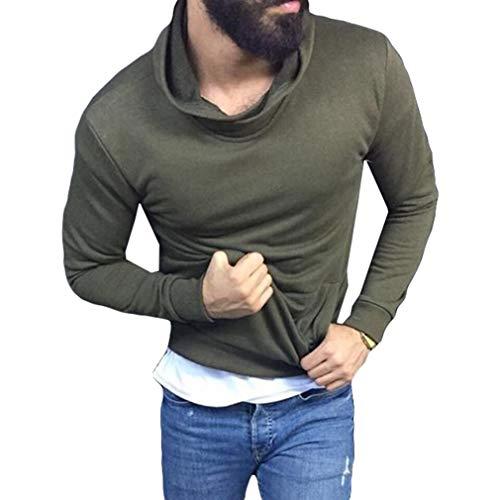 Yying Tee-Shirt À Col Roulé À Manches Longues T-Shirt Élégant M-3Xl