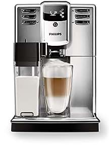 Philips Macchine da caffè Automatiche Serie 5000 EP5365/10 Macchina da caffè Automatica, con Macine in Ceramica, Filtro Aquaclean, Caraffa Latte Integrata, Argento