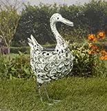 Smart Solar Metal Silhouette Duck Light White & Colour LED Light