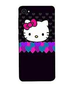 Fuson Designer Back Case Cover for Lenovo ZUK Z2 :: Lenovo Zuk Z2 Plus (Hearts Hello Kitty Cat Pink Love )