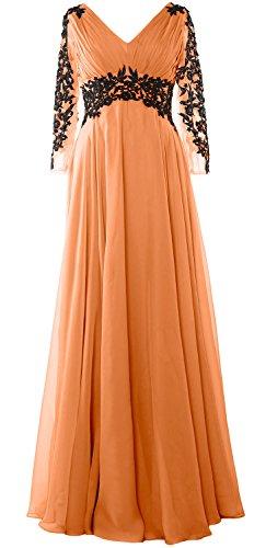 MACloth - Robe - Trapèze - Manches Longues - Femme Corail