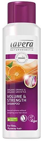 Orange Haar-shampoo (Lavera Haar Shampoo Volumen und Kraft, Bio-Orange, für feines, fliegendes Haar, vegan, Biohaarpflege, Naturkosmetik, 250ml)