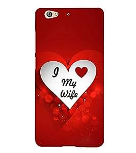 PrintVisa I Love My Wife 3D Hard Polycarbonate Designer Back Case Cover for Gionee S6