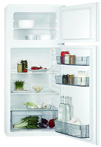 AEG SDB41211AS Einbau Kühl-Gefrier-Kombination mit Gefrierteil oben / 147 l Kühlschrank / 44 l Gefrierschrank / Flexible Ablagen / XXL-Gemüseschublade / Einbaukühlschrank (A+) / H: 122,5 cm / weiß