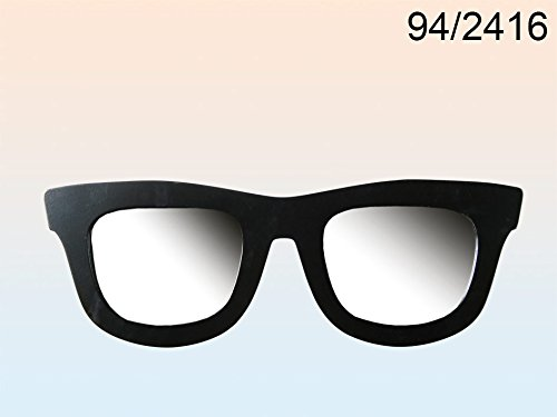 Sonnenbrille Wandspiegel schwarz 50 cm
