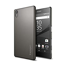 Cut the bulk on cases with Spigen's Thin FitTM for your Xperia Z5. The hard PC case snaps snugly onto the phone to maintain a slim profile for minimal style while protecting from scratches. Even with its slim profile, the Thin FitTM case provides jus...