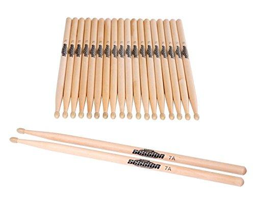 XDrum Schlagzeug Sticks 5A Wood Tip 10 Paar