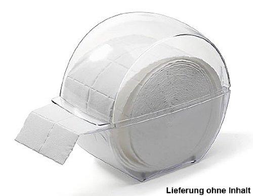 Kosmetex Spenderbox für Zellstofftupfer Zelletten, Tupfer Zellettenbox, Zellettenspender