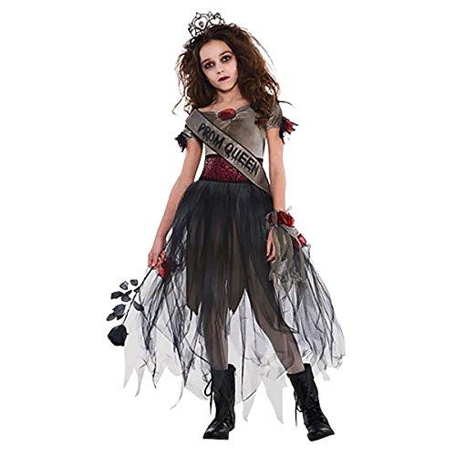 Mädchen Kostüme Geist (Geister Ballkönigin Halloween Kostüm Kinder Mädchen)