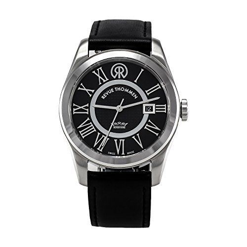 Revue-Thommen-Millennium-Classic-Mens-Automatic-Watch-with-Black-Dial-Analogue-Display-and-Black-Leather-Strap-1030102